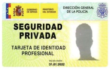 Tarjeta de Identidad Profesional Detective Privado -anverso-