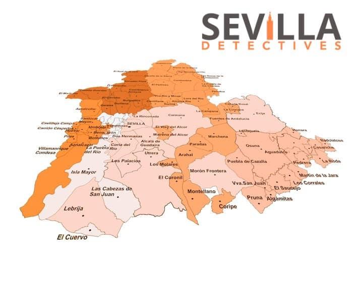 Mapa político de la provincia de Sevilla
